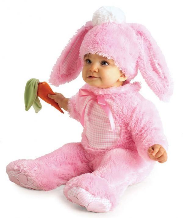 Dětský kostým Králíček růžový