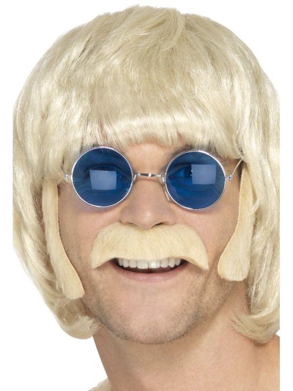 Kotlety a knír Hippie blond