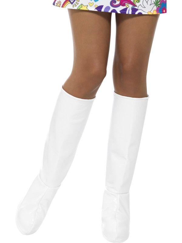 Návleky na boty bílé