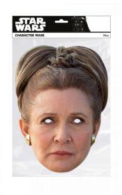 Papírová maska Princezna Leia