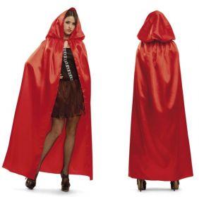 Plášť s kapucí červený | Velikost M/L 42-44