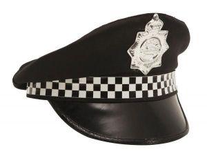 Čepice Policajt černobílá stuha