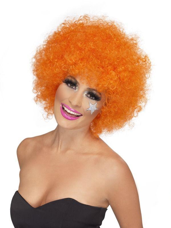 Paruka Funky Afro oranžová