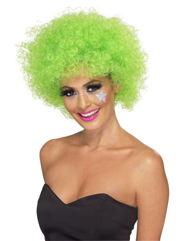 Paruka Funky Afro zelená