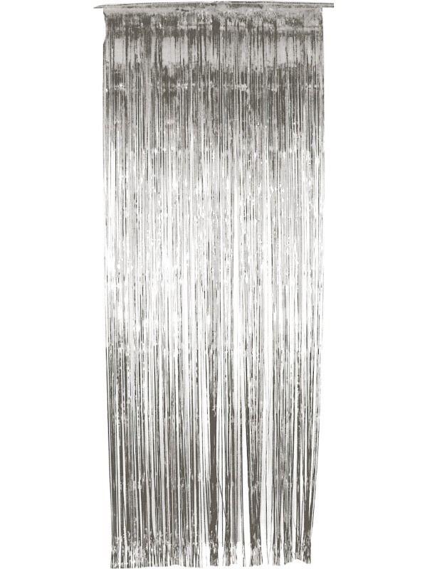 Závěs do dveří 91x244 cm stříbrný