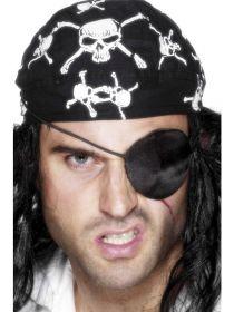 Pirátská záslepka satén