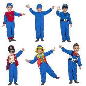 Dětský kostým 5 v 1 modrý