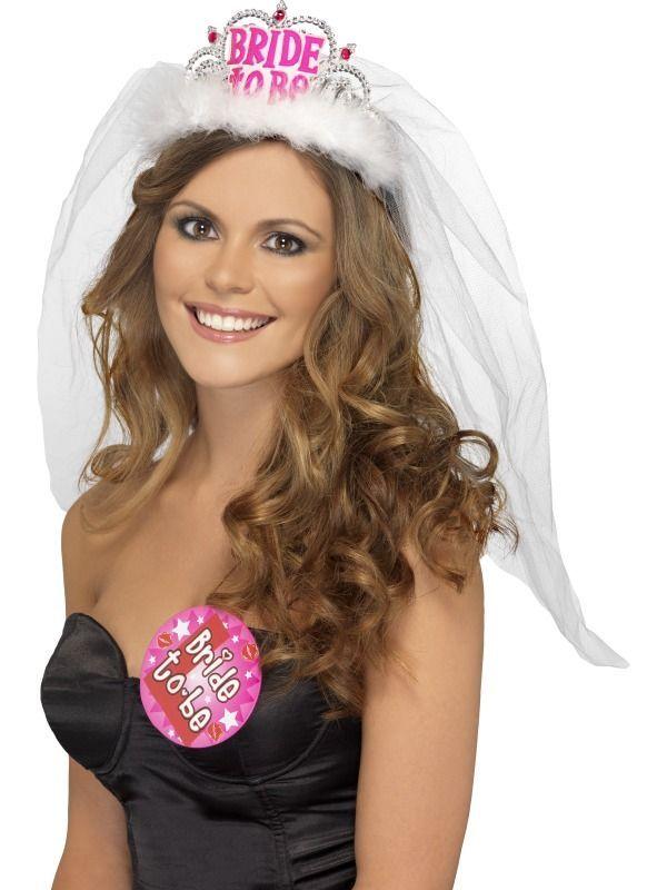 Korunka se závojem Bride to be bílá
