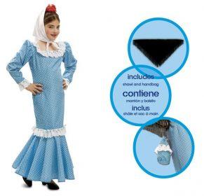 Dětský kostým Madridská dívka modrá | Pro věk (roků) 1-2, Pro věk (roků) 10-12, Pro věk (roků) 3-4, Pro věk (roků) 5-6, Pro věk (roků) 7-9