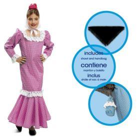 Dětský kostým Madridská dívka růžová | Pro věk (roků) 1-2, Pro věk (roků) 10-12, Pro věk (roků) 3-4, Pro věk (roků) 5-6, Pro věk (roků) 7-9