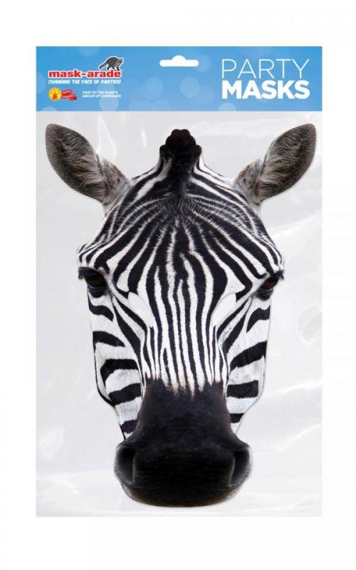 Papírová maska Zebra