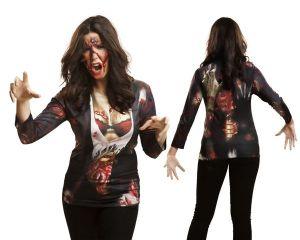 Tričko 3D Zombie girl   Velikost L, Velikost M, Velikost S