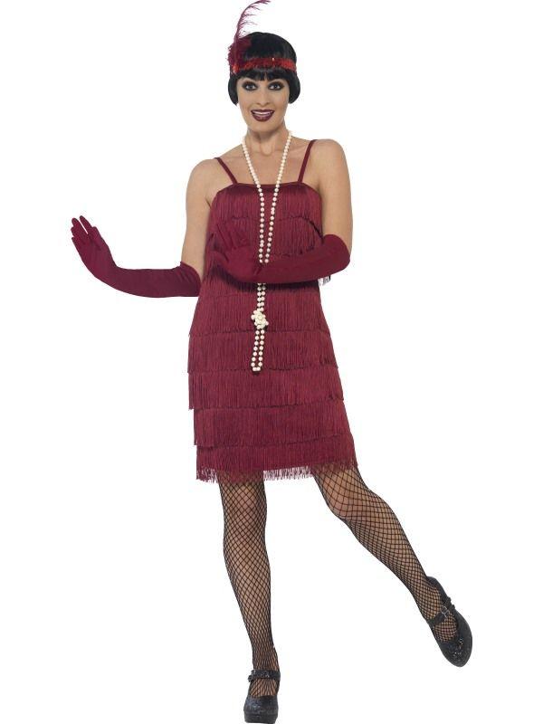 Kostým Flapper krátké šaty vínové