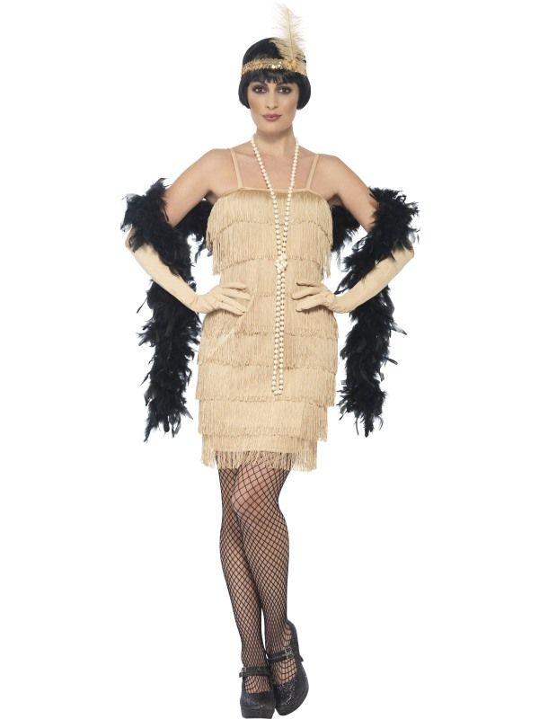 Kostým Flapper krátké šaty zlaté