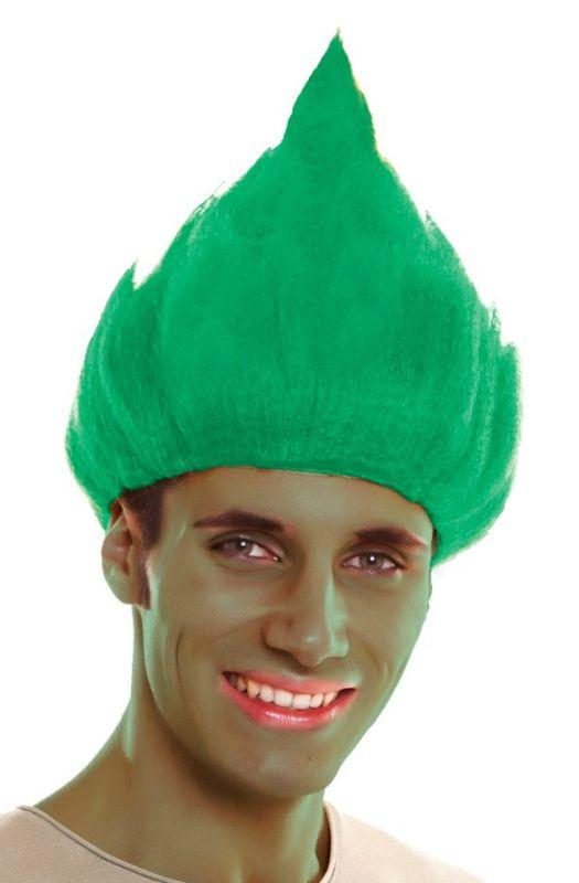 Paruka Troll zelená