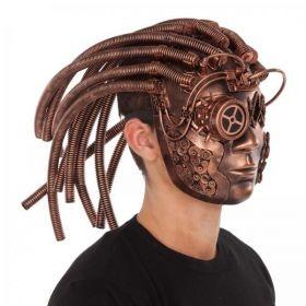 Maska Steampunk s hadicemi